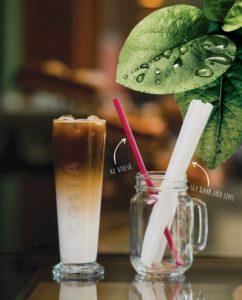 Costa kávé papír szívószál